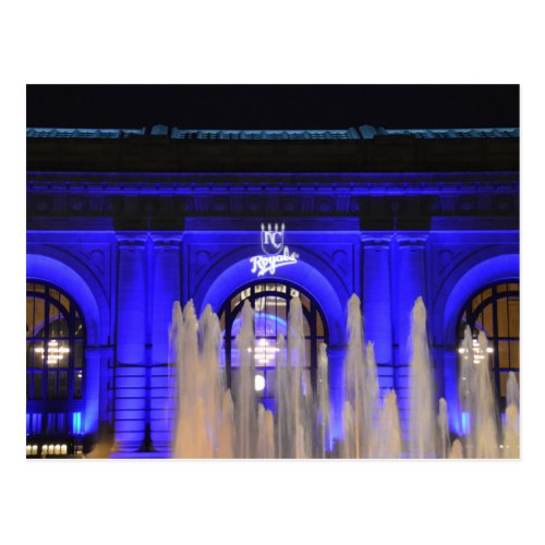Union Station in Blue, Kansas City, Missouri Postcard