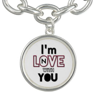 Unique (Fat Letters Im N Love w/You Charm Bracelet