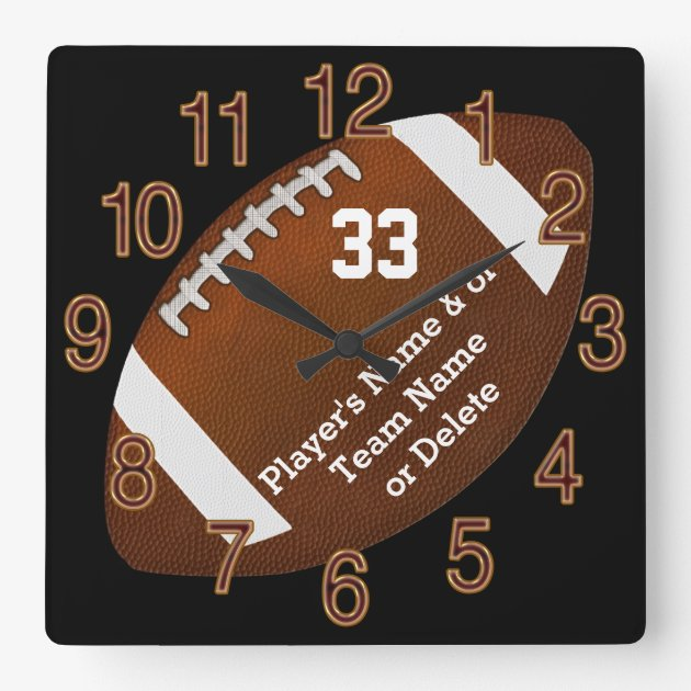 Unique Football Senior Night Gifts TEXT COLORS Square