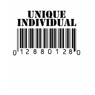 Unique Individual Barcode shirt
