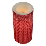 Unique Red Lines Abstract Design Flameless Candle