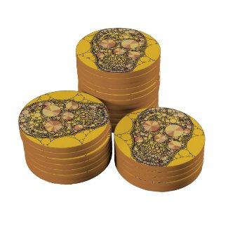 Unique Skull Pattern Ceramic Poker Chips
