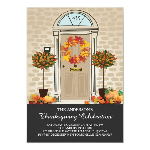 Unique Thanksgiving Celebration Dinner Party Invitation