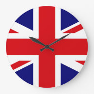UNITED KINGDOM British Flag Union Jack WALL CLOCK on Zazzle