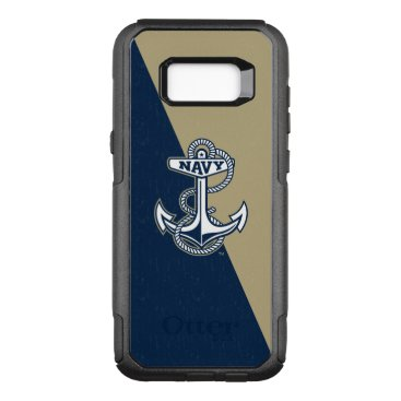United States Naval Academy Color Block Distressed OtterBox Commuter Samsung Galaxy S8  Case