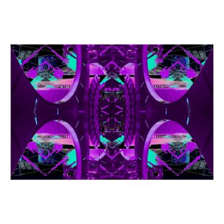 Unusual Purple Abstract Extreme Design Poster 14