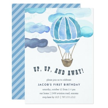 Up in the Air Kids Birthday Party Invite