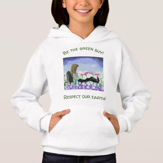 Upbeat Daisy Girl in  Nature Sweatshirt for Girls