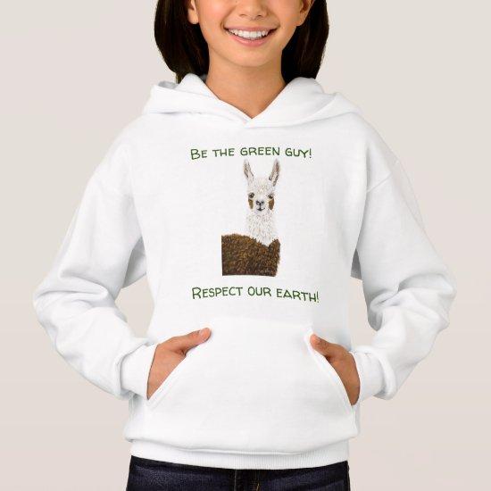 Upbeat Mama Llama Nature Sweatshirt for Girls