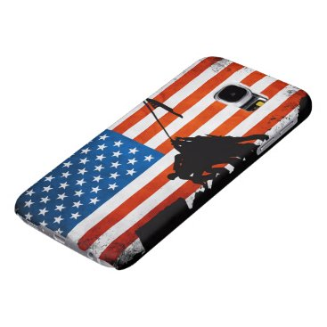 US Flag with Veterans Silhouettes Patriotic Samsung Galaxy S6 Case
