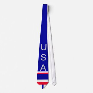 USA American Flag Men's Tie 9 CricketDiane Designs