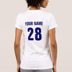 USA Hockey Tee Shirt with Back Print