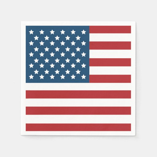 USA Patriotic Flag Napkin