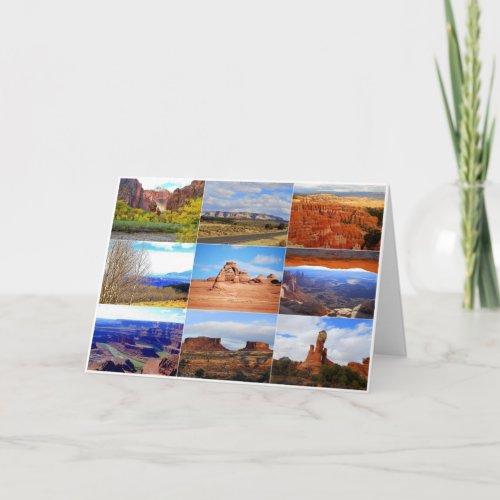Utah Collage card