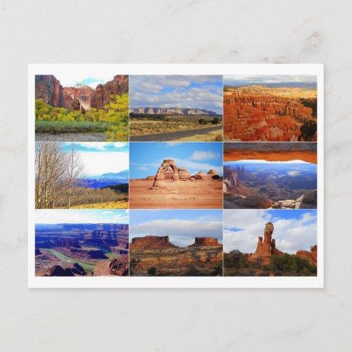 Utah Icon Collage Postcard postcard