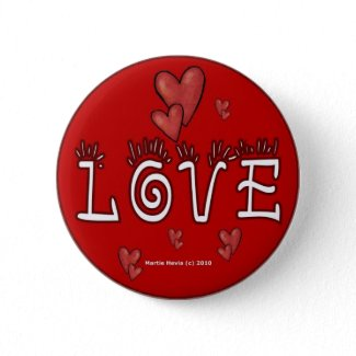 Valentine's Day Buttons/Pins (4) button