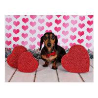 Valentine's Day - Dexter - Dachshund Postcard