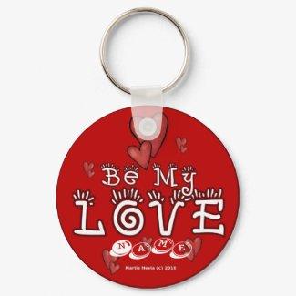 Valentine's Day Keychain (1a) - Personalize keychain