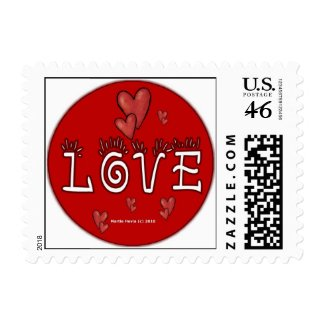 Valentine's Day Love Postage (4) stamp
