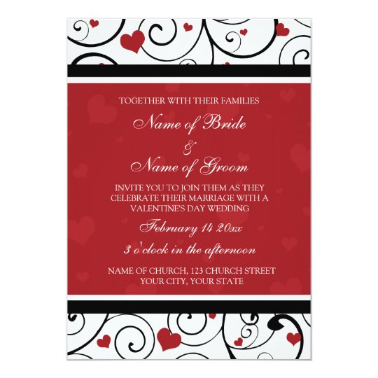 Valentine S Day Wedding Invitation Cards
