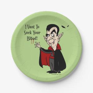 Vampire Sucks Your Blood! Paper Plate