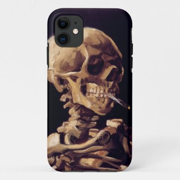 Van Gogh Skull with Burning Cigarette iPhone 11 Case