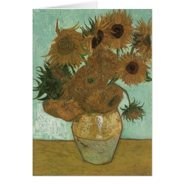 Van Gogh Vase with 12 Sunflowers Card