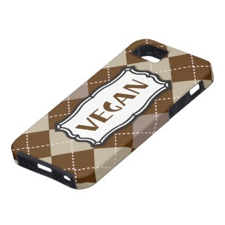 Vegan (Brown Argyle) iPhone 5 Cover