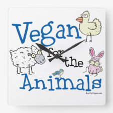 Vegan for the Animals clock