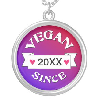 Vegan Since Custom Necklace necklace
