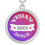 Vegan Since Custom Necklace