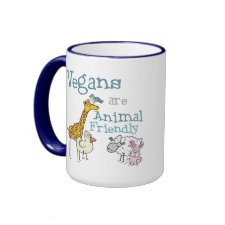Vegans are Animal Friendly mug
