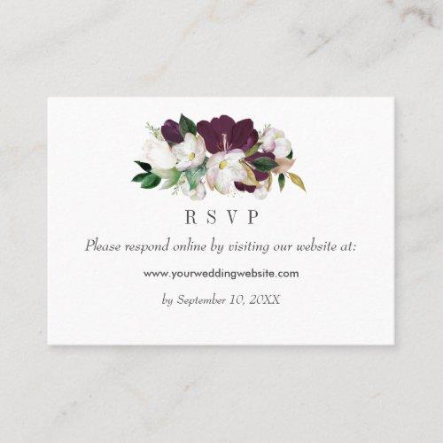 Velvet Magnolias  Wedding  RSVP Online Website Business Card