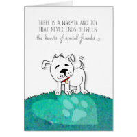 Vet & Business Dog Sympathy Card - Warmth & Joy