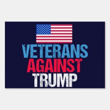 Veterans Against Donald Trump Sign