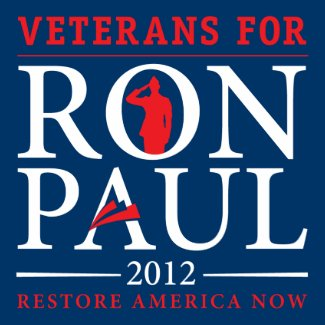 Veterans for Ron Paul Retro Button zazzle_button