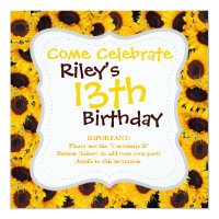Vibrant Beautiful Sunflowers Nature Floral Prints Card