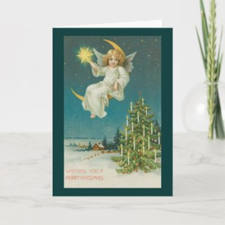 Victorian Era Angel Christmas Card card