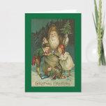 Victorian Santa Christmas Card