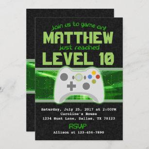 gamer invitations zazzle