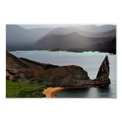 View From Bartolome Peak in The Galapagos Islands Poster