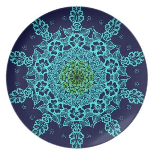 Vintage abstract mandala pattern plates fuji_plate