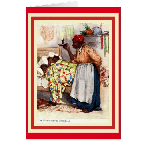 Vintage African American Christmas Caed Greeting Card Zazzle