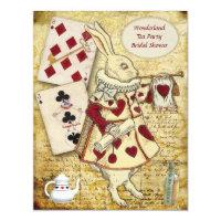 Vintage Alice in Wonderland Rabbit Bridal Shower Card
