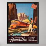 Vintage American Railway, USA - Poster