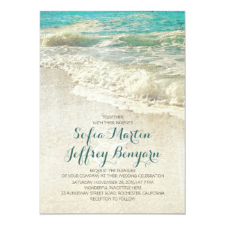 Read More Turquoise Beach Wedding Invitation With Starfish Couple