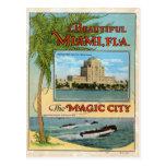 Vintage Beautiful Miami Florida Magic City Travel Postcard