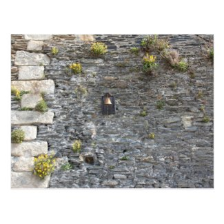 Vintage Bell on Stone Wall Postcard