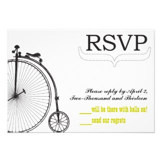 Vintage Bicycle Love RSVP Invite