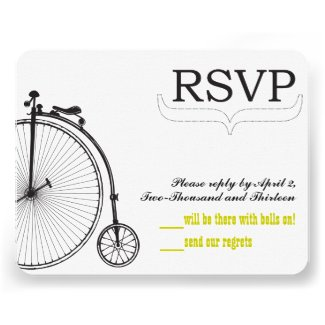 Vintage Bicycle Love RSVP-size for RSVP Envelopes Custom Invitations